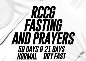 RCCG Fasting And Prayer Points for 27 -29 February 2020 – Day 48 - 50