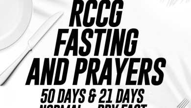RCCG Fasting And Prayer Points for 22nd February 2020 – Day 43, RCCG Fasting And Prayer Points for 22nd February 2020 – Day 43