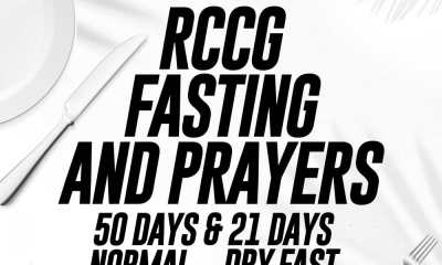 RCCG 2020 Fasting And Prayer Points 27 January - Day 17