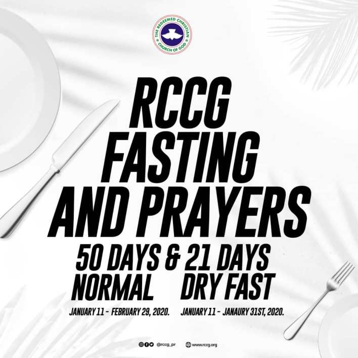 PRAYER GUIDE RCCG Fasting And Prayer Points for 2020 January & February, RCCG Fasting And Prayer Points for 2020 January & February