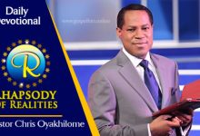 Rhapsody Of Realities 22nd October 2020 Devotional, Rhapsody Of Realities 22nd October 2020 Devotional – Jesus Is Himself Lord