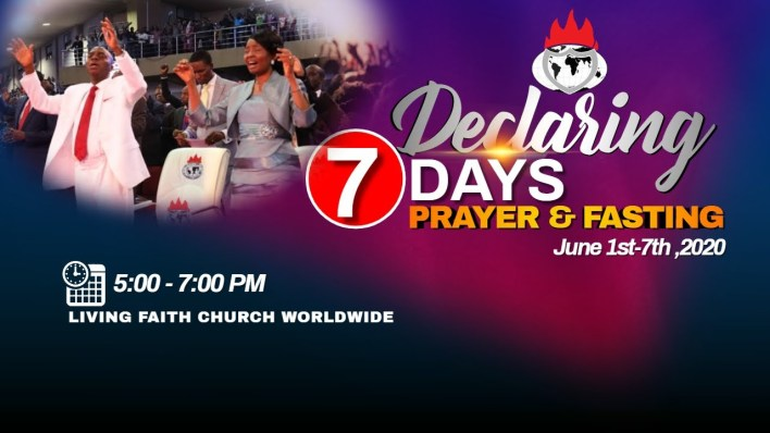 Winners' Chapel 7 Days Fasting And Prayer 5 June 2020 – Day 5, Winners' Chapel 7 Days Fasting And Prayer 5 June 2020 – Day 5