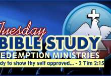 Photo of Redemption Ministries Bible Study Outline 22nd September 2020