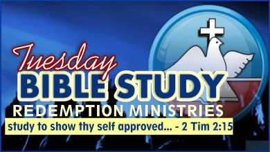 Redemption Ministries Weekly Bible Study 25th August 2020 Outline, Redemption Ministries Weekly Bible Study 25th August 2020 Outline