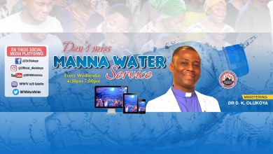 MFM Manna Water Service Today 25th November 2020, MFM Manna Water Service Today 25th November 2020 – Dr D. K. Olukoya