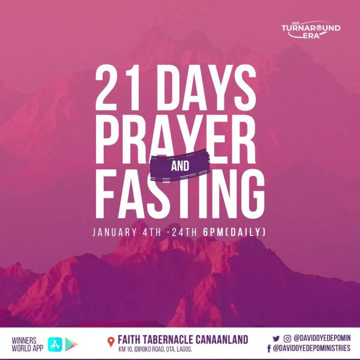 Winners Chapel 21 Days Fasting And Prayer 2021, Winners Chapel 21 Days Fasting And Prayer 2021 Points