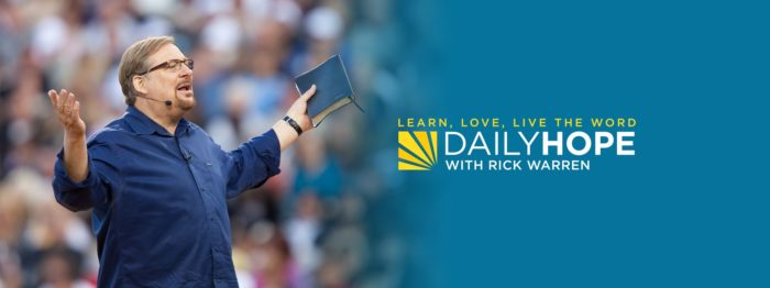 Daily Hope Devotional with Rick Warren 3 May 2021 - Loving God with Your Heart