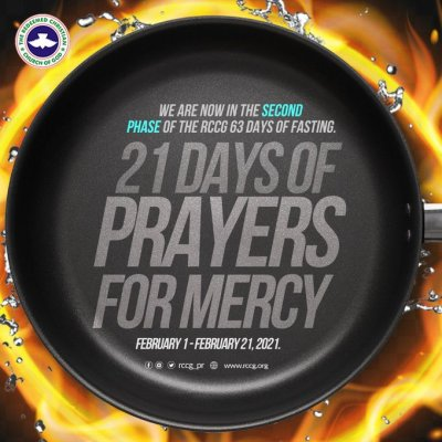 RCCG 20th February 2021 Fasting Prayer Points - Day 20