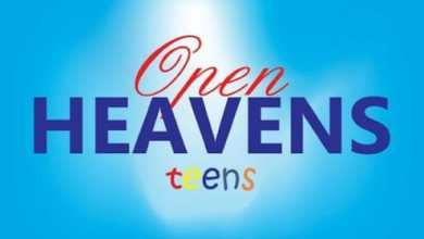 OPEN HEAVEN FOR TEENS 9 APRIL 2021 – POWER IN GOD'S WORD