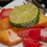 Watermelon Mango Salad with Coconut Lime Cream Dressing