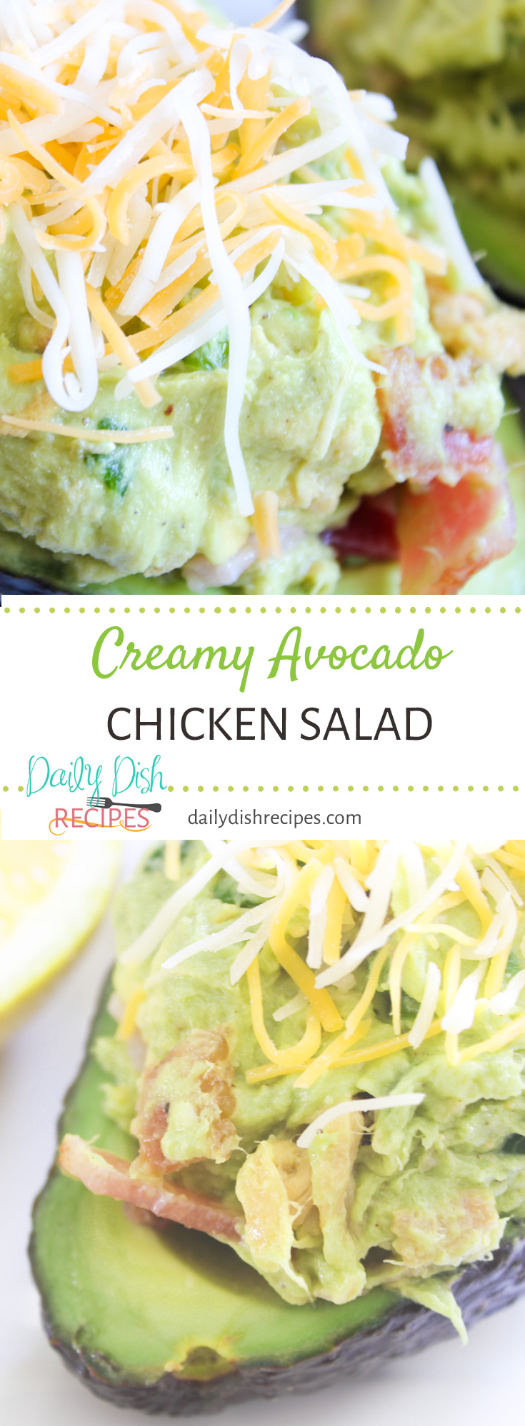 There is absolutely nothing better than this Creamy Avocado Chicken Salad. It's so delish and you can serve it right in the avocado skin.