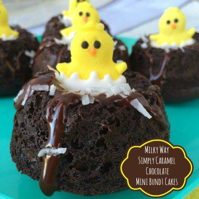 Milky Way Simply Caramel Chocolate Mini Bundt Cakes