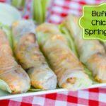 Buffalo Chicken Spring Rolls #SundaySupper