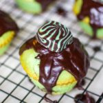 Mint Cupcakes with Mint Dark Chocolate Ganache