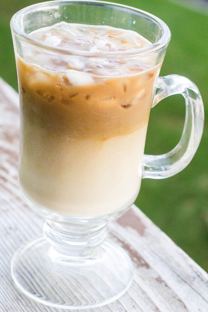 Dairy-Free Coconut Vanilla Iced Coffee #secretrecipeclub