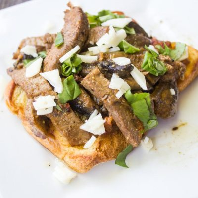 Open Faced Steak Sandwich #SundaySupper