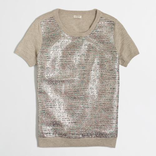 Jcrew metallic top
