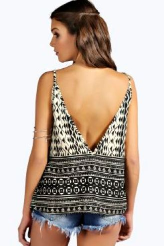 boohoo low back cami