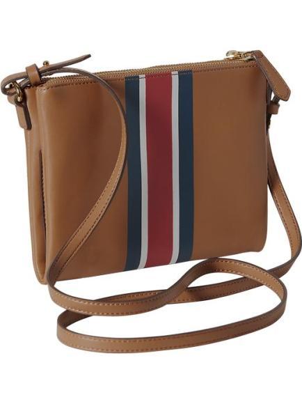 old navy striped crossbody bag