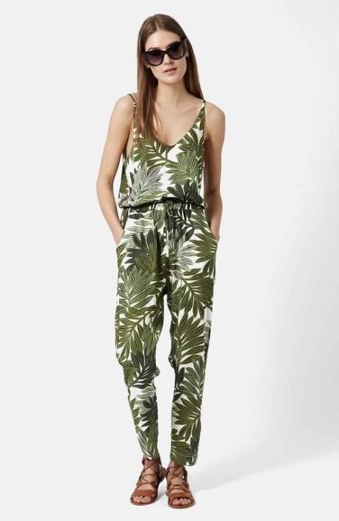 topshop palm leaf jumpsuit