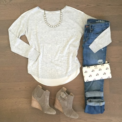 loft sweater sole society wedges outfit