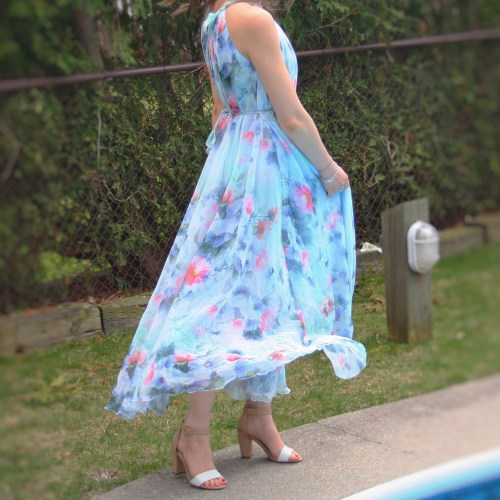 chicwish floral maxi summer dress