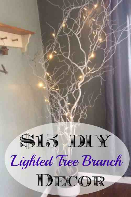 DIY Lighted Tree Branches -Home Decor, Wedding, Showers and More!