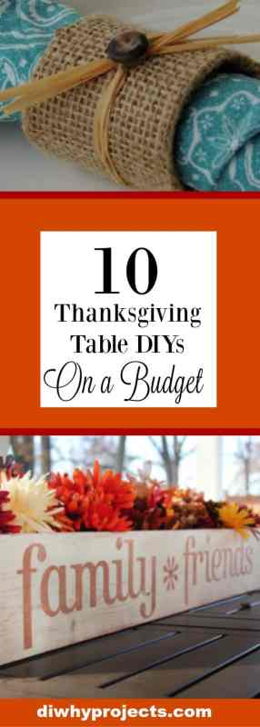 10 Budget Friendly Thanksgiving Centerpiece and Table Setting DIYs