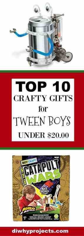 Top 10 Crafty Gift Ideas for Tween Boys ~2017 Christmas Gift Guide