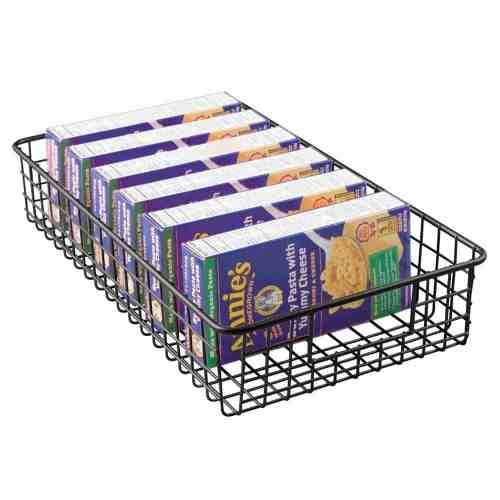 slim pantry wire basket