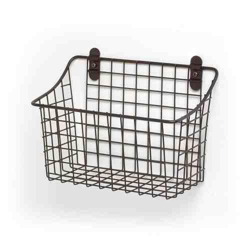 wall mount pantry organization basket