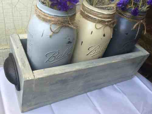 finished mason jar box