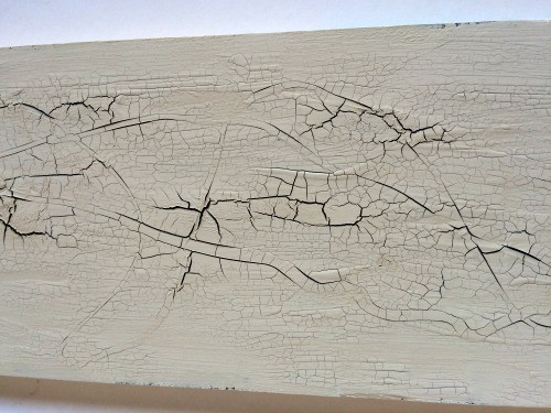 crackle paint after the glue dries