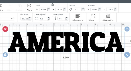 Making a text in text knockout design in cricut design space
