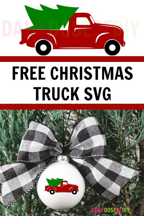 FREE red Christmas Truck SVG
