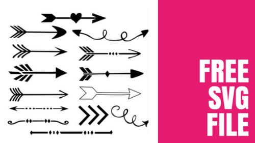 Free Arrow SVG Files -Set of 14