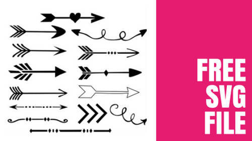 Set of 14 free arrow svg files available for use.