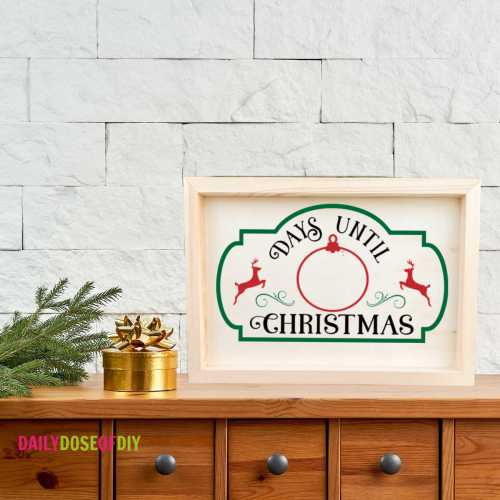 Days Until Christmas SVG to use for signs