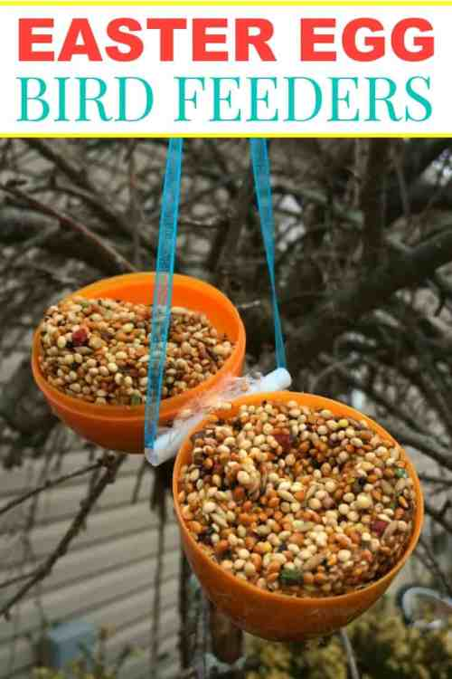 Hanging Easter Egg Bird Feeder