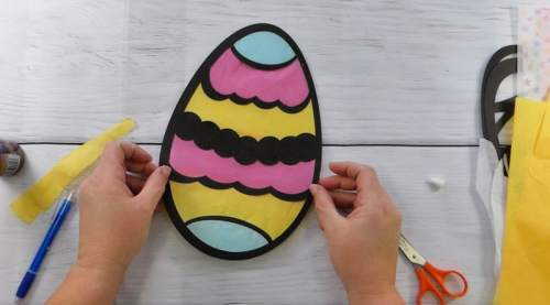 Finished Easter Egg Suncatcher made with Easter Egg SVG file
