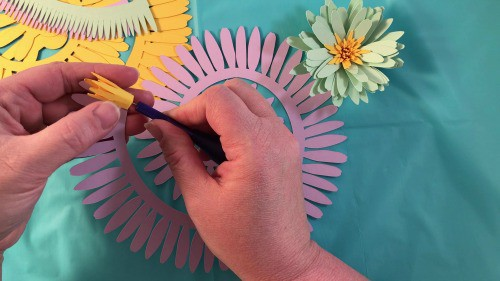 Rolling Paper Daisy Flowers For A Shadow Box Display