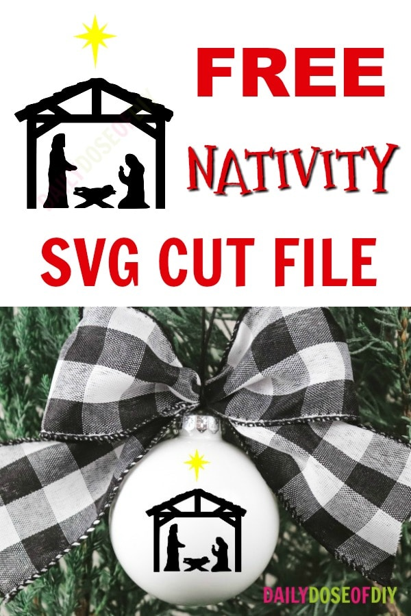 Download Free Nativity SVG Cut File | 12 Days of Free Christmas ...