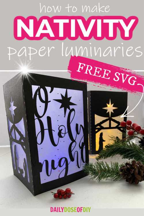 Nativity Scene Paper Luminaries