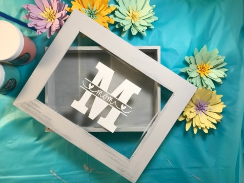 Mom Monogrammed shadow box display idea