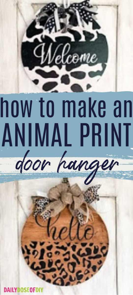 Animal Print Door Hanger - Pin
