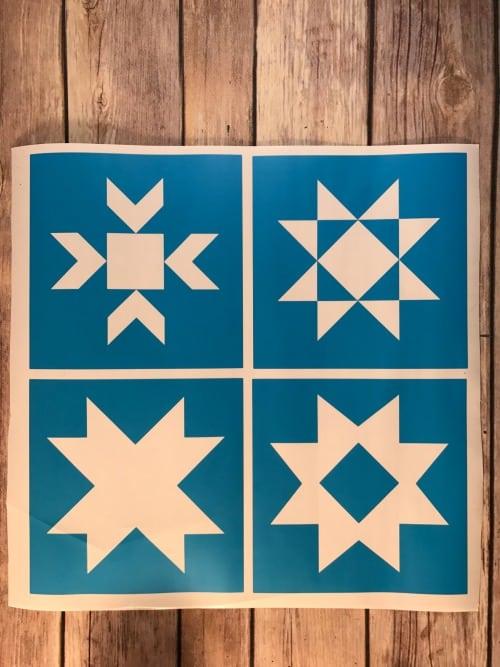 Barn Star Quilt block stencils