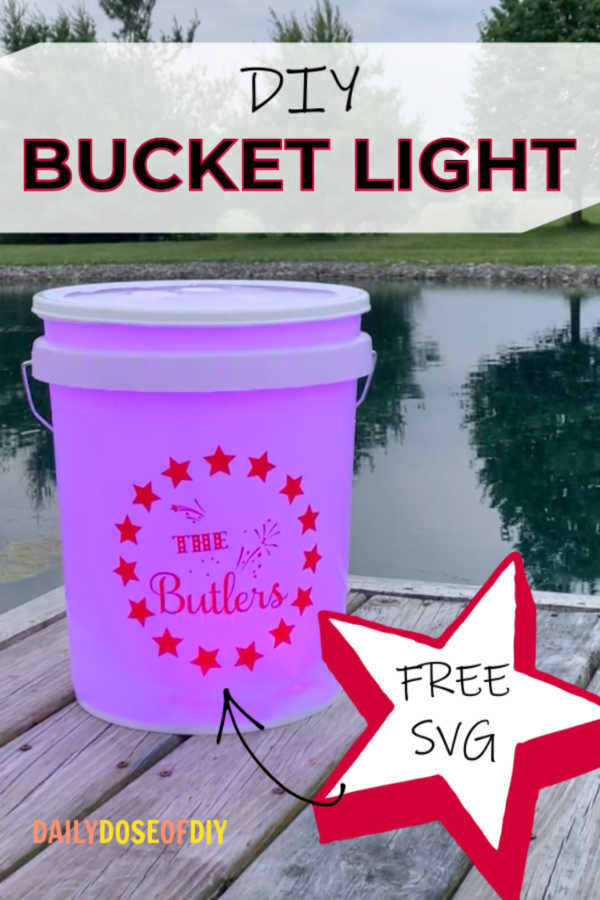Camping Bucket light with LED lights and personalized design