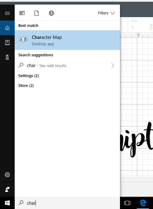 Finding the Character map for fonts in design space