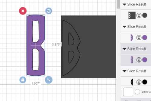 adding the second letter to your circle monogram in Cricut design space
