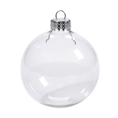 clear glass ornament for Christmas crafts